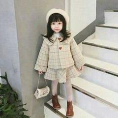 "Thumbnail of ""セットアップ子供服 ワンピース コート2点セット ラシャ 女の子Ye"""