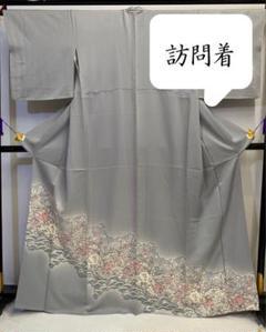 """Thumbnail of """"[辻ヶ花] 訪問着 京友禅 正絹 銀鼠色 灰色 ぼかし 結婚式 卒業式 入学式"""""""