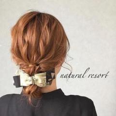 "Thumbnail of ""バナナクリップ アーチ型 ✳︎natural resort ribbon"""