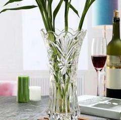 """Thumbnail of """"クリスタルの花瓶、透明なガラスの花瓶、ホームデスクトップの花瓶の装飾4"""""""