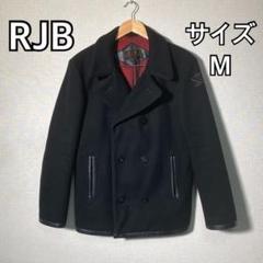 """Thumbnail of """"RJB THEFLATHEAD メンズ ピーコート ブラック カシミヤ混 M"""""""