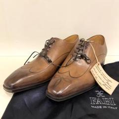 "Thumbnail of ""FABI ファビ ホールカットシューズ 革靴 レーザー加工 5.5 約24cm"""