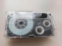 "Thumbnail of ""カシオ ネームランド  18mm 黒文字・白テープ  XR-18WE  2本"""