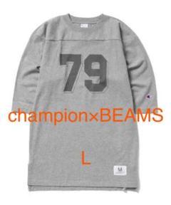 """Thumbnail of """"美品 CHAMPION×BEAMS / 別注 ロングフットボールシャツ L"""""""