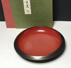 "Thumbnail of ""漆塗 菓子器 象彦 紙箱 木製 茶道具【k520】"""