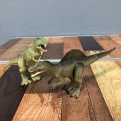 """Thumbnail of """"廃盤品❗️アニア 肉食恐竜激突セット ティラノサウルス スピノサウルス 2体セット"""""""
