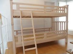 """Thumbnail of """"2段ベッド 高さ153cm ベッドフレーム 木製 すのこ 安心頑丈設計"""""""