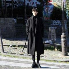 """Thumbnail of """"新韓版の男性のロング丈はひざを越すことができますか?オーバーのゆったりしてい3"""""""
