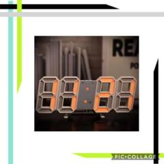 "Thumbnail of ""注目の品‼インテリアとしての時計 ♡白ぶちオレンジの光♡立体時計"""