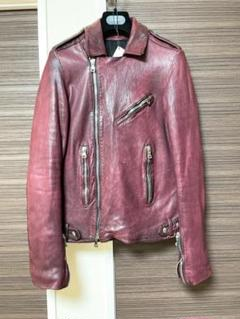 "Thumbnail of ""Balmain Homme Bordeaux Leather Riders"""