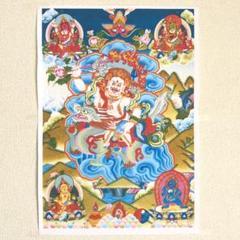 """Thumbnail of """"チベットタンカ 宗教画【ホワイトジャンバラ】チベット密教美術"""""""