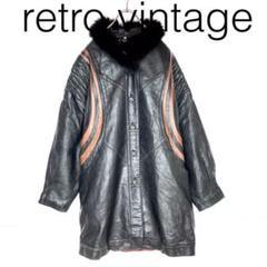 """Thumbnail of """"W1612*vintage 定番人気カラー ロングレザーコート 黒ブラック"""""""