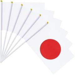 "Thumbnail of ""●新品超特価●日の丸フラッグ□日本国旗 (6本 セット, 22x14cm)"""