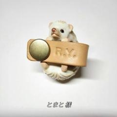 "Thumbnail of ""国産本牛革(ヌメ革)パッチン ネームタグ Sサイズ 675"""