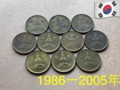 "Thumbnail of ""A792【大韓民国・韓国】 古銭 硬貨 コイン 10枚"""