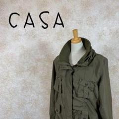"Thumbnail of ""CASA カーサ ミリタリージャケット サイズLL 大きなサイズ グリーン 緑"""
