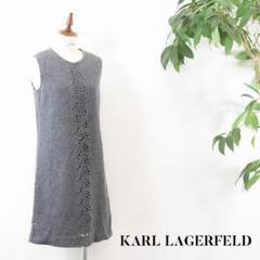 "Thumbnail of ""F6Z057 KARL LAGERFELD ワンピース グレー 38 M"""