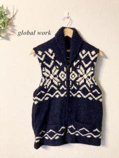 """Thumbnail of """"GLOBAL WORK グローバルワーク カウチンベスト ビッグサイズXL"""""""