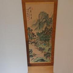 "Thumbnail of ""山水掛軸"""