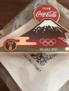 "Thumbnail of ""東京オリンピック コカコーラ ピンバッジ DAY8 富士山"""