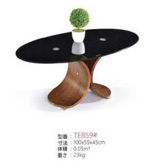 "Thumbnail of ""ガラス木製テーブルインテリア家具 オフィス 楕円形"""