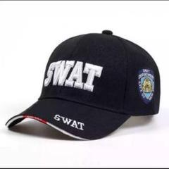 "Thumbnail of ""◆◆SWAT 刺繍キャップ BLACK 警察 特殊部隊 自衛隊 帽子 フリー◆◆"""
