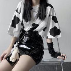 """Thumbnail of """"Tシャツ ビッグシルエット 半袖 トップス カウ柄 jc6A7"""""""