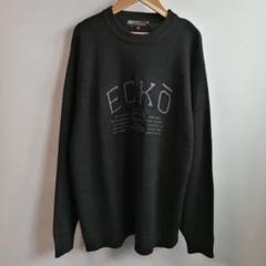 """Thumbnail of """"ECKO エコー ハイゲージニット 黒 ビッグロゴ かっこいい 人気サイズ"""""""