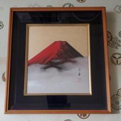 "Thumbnail of ""絵画 開運 アート 赤富士 日本 富士山 日本画 色紙 額"""