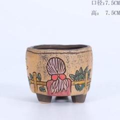 "Thumbnail of ""植木鉢⓹陶器 多肉植物 寄せ植え 40種類からデザイン・カラー変更可能!"""