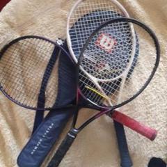 "Thumbnail of ""テニスラケット×3、カバー×1"""