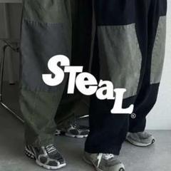 "Thumbnail of ""STEAL MEANING ヴィンテージワイドパンツ ブラック"""