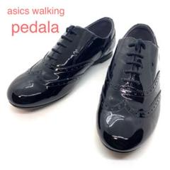 "Thumbnail of ""アシックス pedala 革靴 ウィングチップ エナメル  黒 23cm ☆美品"""