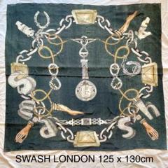 "Thumbnail of ""SWASH LONDON スワッシュロンドン 大判シルクストール グリーン系"""