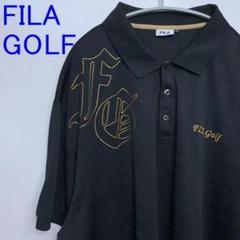 """Thumbnail of """"FILA フィラ ゴルフ ポロシャツ 半袖 大きいサイズ メンズ 5L 黒金"""""""