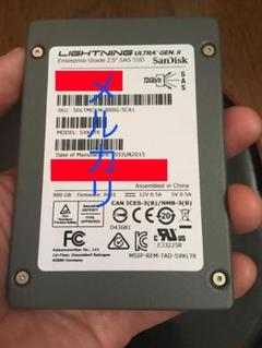 "Thumbnail of ""SanDisk SAS 高速SSD 800GB確認済み"""