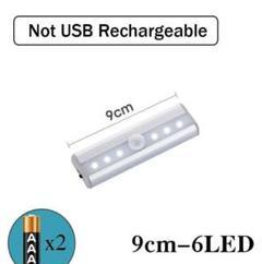 "Thumbnail of ""人感センサー LEDライト 単四電池で動く 接着シール付き 夜のトイレ等に"""