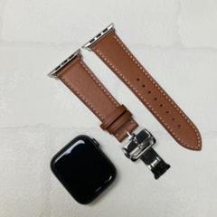 "Thumbnail of ""AppleWatch アップルウォッチ レザー 本革バンド ベルト 44mm 茶"""