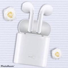 無線 イヤホン  i7s 白 Bluetooth ワイヤレス