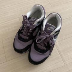 NIKEナイキのAIR MAXエアマックス 23.5センチ 黒紫白