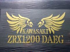"""Thumbnail of """"ZRX1200 DAEG 羽ステンシルステッカー KAWASAKI バイク"""""""