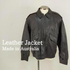 """Thumbnail of """"新品タグ付き 定価7万 オーストラリア製 レザージャケット ブラック 黒 XL"""""""