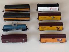 """Thumbnail of """"◆鉄道模型【HOゲージ アメリカ 米国 貨車など 8両セット 】ジャンク品◆"""""""