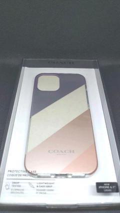 "Thumbnail of ""COACH iPhone 12/12 PRO ケース ダイアゴナル ストライプ"""