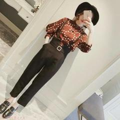 """Thumbnail of """"*スーツ女性の春服韓国版シフォンシャツのズボンのファッションの2点セットs-xl"""""""