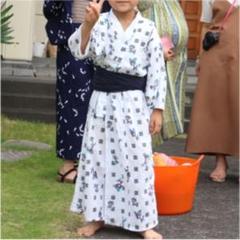"Thumbnail of ""昭和レトロ 浴衣 かすり 男の子 100 110 120"""