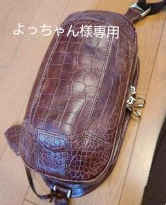"Thumbnail of ""アニアリ ボディーバッグ タートル  クロコ型押 本革"""