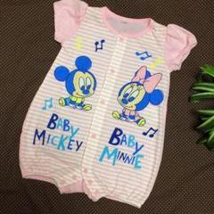 "Thumbnail of ""Disney baby ベビーミッキー&ベビーミニー 半袖ロンパース 70㌢"""