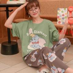 """Thumbnail of """"夏薄手 キャラクター 純綿 半袖 ズボン 女性 パジャマ 2枚セットC"""""""