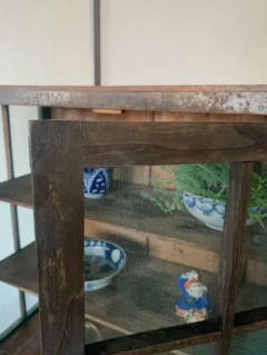 """Thumbnail of """"269 古道具 昔ながらの渋い木製の棚 蝿張 アンティーク 家具 骨董 昭和"""""""